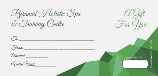Pyramid Holistic Centre | Holistic Training & Spa Gift Card